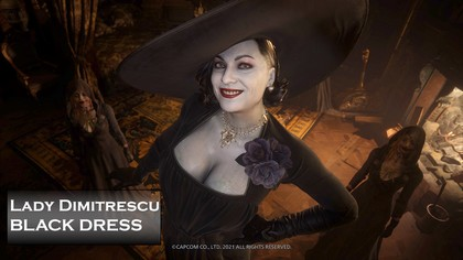 Черное платье для Леди Димитреску в Resident Evil: Village - Мод Одежда для Персонажа