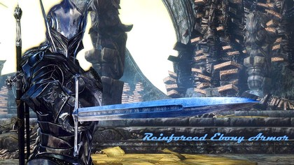 Усиленная Эбонитовая Броня и Шлем - Мод для Skyrim - Reinforced Ebony Armor